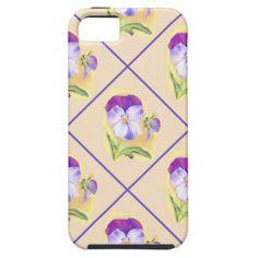 Violet Violas Pastel Pansies iPhone 5/5S Cover