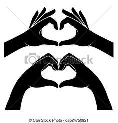 """Képtalálat a következőre: """"two hand vector heart"""""""