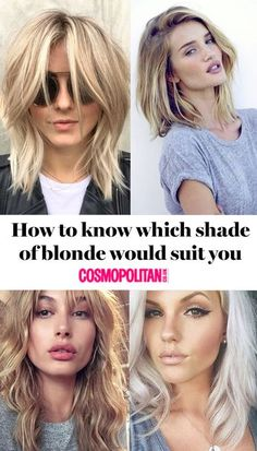 Here's how to test your skin tone and hair type for the right blonde shade before you head to the salon<br> Find the most flattering hue for you Blonde Hair For Cool Skin Tones, Olive Skin Blonde Hair, Haircolor For Olive Skin, Neutral Blonde Hair, Hair Pale Skin, Hair Color For Fair Skin, Blonde Hair Shades, Light Blonde Hair, Toning Blonde Hair