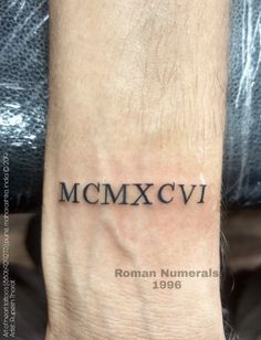 1996 Roman Numeral Tattoo 1996 Is Only The Quot Mcmxcvi Quot Part