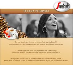 Segafredo Zanetti Austria || Scuola di Barista - Tab || Kommentarfunktion || Moderatorfunktion || eigenes Backend || Barista, Austria, Apps, Facebook, Tips And Tricks, App, Baristas, Appliques