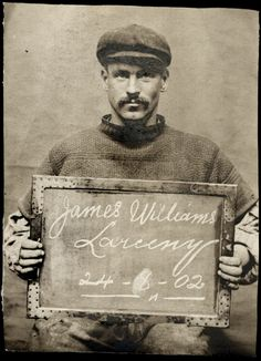 James Williams, arrested for larceny, 1902. (Tyne & Wear Archives & Museum)