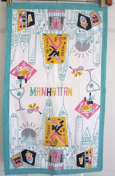 Vintage Towel New York City Manhattan by NeatoKeen on Etsy