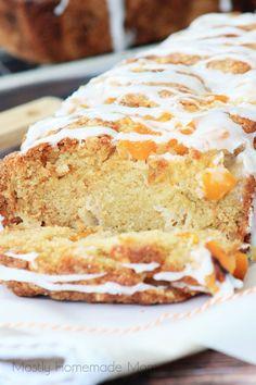 Peach Cobbler Bread | Mostly Homemade Mom