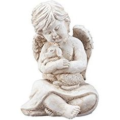 Angel With Dog Memorial Statue My Pet Gifts