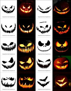 Pin for Later: scary halloween decorations. Free Halloween Pumpkin Templates, Vectors, PSD, Icons & Party Posters for Scary Pumpkin Carving, Halloween Pumpkin Carving Stencils, Scary Halloween Pumpkins, Halloween Make, Holidays Halloween, Carving Pumpkins, Halloween Pumpkin Designs, Free Pumpkin Stencils, Pumpkin Designs Carved
