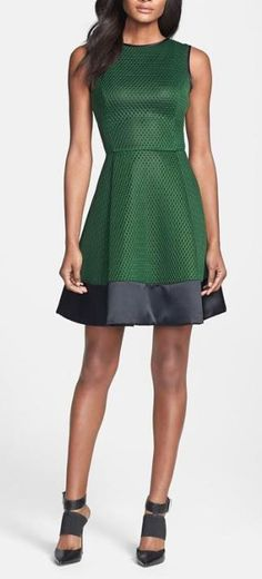 Mesh Emerald Dress. Perfect Christmas party dress. I need to get away from wearing all black every year.