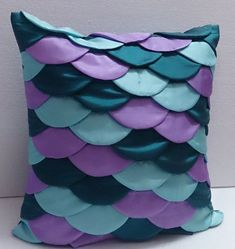 modern designer mermaid cushion 16x16silkdecorative by Tatvakala