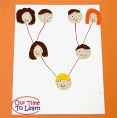Learn about the family tree and genetic inheritance in this activity for ages 4-6 / Our Time to Learn Blog for Preschool and Kindergarten science - family theme, family unit, homeschool, fhe activity