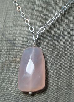 SALE  Pink Chalcedony and Sterling Silver by hoitytoitydesigns, $15.00