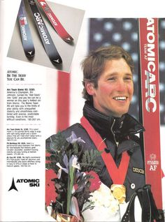 Atomic - Bill Johnson the old Atomic ARC a Classic Alpine Skiing, Snow Skiing, 1984 Winter Olympics, Bill Johnson, Ski Equipment, Ski Racing, Vintage Ski, Champion, Old Things
