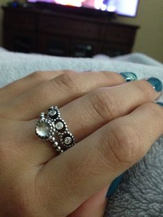 Pandora rings. Love the top one.