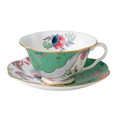 Who wouldn't love kicking back with this lovely cup and saucer <3