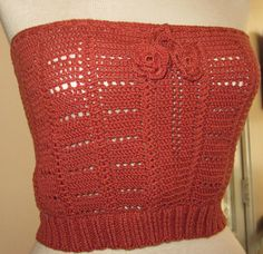 Crochet  Burnt Orange Tank Top Size 0 to 6 Women & by MarKateLiz, $60.00