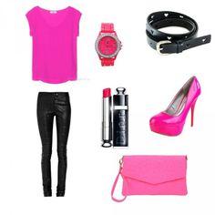Неоновый оттенок розового в одежде