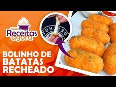 Bolinho de Batata - Receitas Agora Samara, Costa, French Toast, Breakfast, Ethnic Recipes, Food, Roasted Potatoes, Savory Scones, Baked Chicken