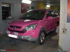 Pink Honda CRV...yes yes yes!!!