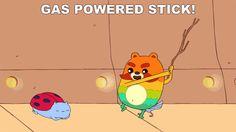catbug gifs | GAS POWERED STICK!
