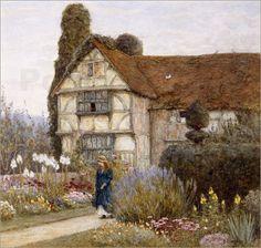 Helen Allingham | Helen Allingham - Old Manor House