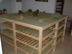 not the most inspired table, but a good use of space when considering bulky terrain.