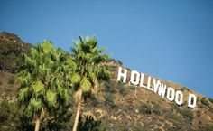 On the edge of the hollywood sign! I WISh!!!