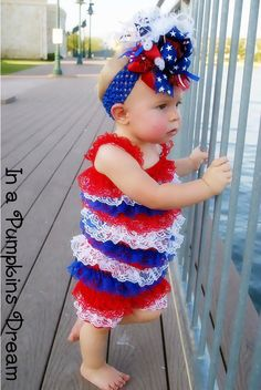 4th of july outfit. so adorable. love the bow.