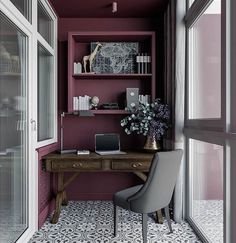 40 Cozy Balcony Ideas and Decor Inspiration 2019 – Page 35 of 41 veranda; Home Office Space, Home Office Design, Home Office Decor, Veranda Interiors, Office Interiors, Room Interior, Interior Design Living Room, Interior Balcony, Home Office Inspiration