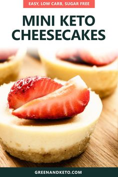 The best keto mini cheesecake bites are my favorite low-carb dessert. They are creamy, delicious, and oh-so-easy to make. If you love a classic New York style cheesecake, try these single-serving keto cheesecakes! Brownie Desserts, Oreo Dessert, Keto Desserts, Mini Desserts, Keto Friendly Desserts, Keto Recipes, Dessert Recipes, Holiday Desserts, Dessert Shots