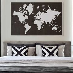 World Map Stencil Worlds Maps stencils decal