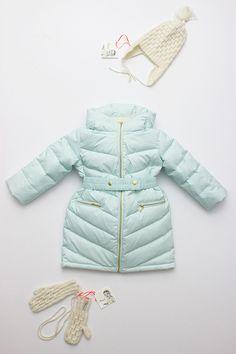 Aqua puffer jacket from Flora   Henri