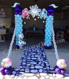 Castle Balloon columns Arch drawbridge chains