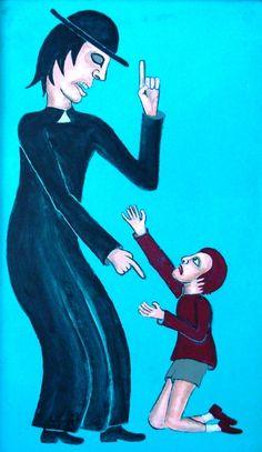 Titolo:Il piccolo peccatore  Misure:30x50  Tecnica:Acrilico su masonite  Anno:2009