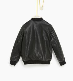 b9c5d3a4cb Leather effect bomber jacket-TOPS-BOY | 4-14 years-COLLECTION AW16 | ZARA  United States