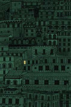 'While You Were Sleeping' by artist Dan McCarthy. 3 color screenprint.