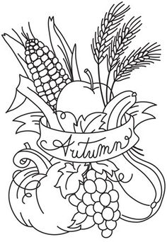Autumn Bounty | Urban Threads: Unique and Awesome Embroidery Designs