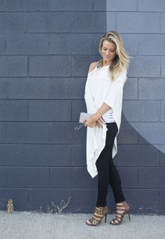 Soybu's Everyday Poncho is the perfect layering piece for date night!