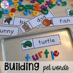 Pet Themed Activities and Centers - Kids Names - Ideas fo Kids Names - Pet themed activities and centers (freebies too) for preschool pre-k and kindergarten (math writing letters rhyme sensory art blocks STEM dramatic play). Pre K Activities, Preschool Learning Activities, Preschool Classroom, In Kindergarten, Learning Activities For Toddlers, Center Ideas For Kindergarten, Pet Theme Preschool, Activities For 4 Year Olds, Crafts For Preschoolers