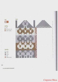 Knitting Stiches, Crochet Stitches Patterns, Knitting Charts, Baby Knitting, Stitch Patterns, Knitting Patterns, Knitted Mittens Pattern, Knit Mittens, Crochet Cross