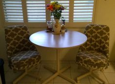 Dinette chairs...re-do by The Solution!