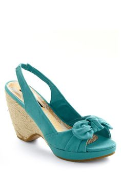 Blue Swoon Wedge...cute!