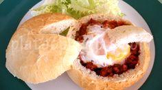 Riquísimo huevos al pan, para comer sin pestañear y mojando en la yema y todo!. Una forma de comer bien, sin estar mucho tiempo en la cocina.