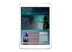 Resonate Electronic Arts Festival by James Renouf, via Behance