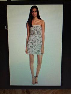 NWT-365-Diane-von-Furstenberg-Walker-Lace-Tube-Dress-Ivory-Size-6