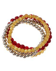 accessory PLAYS® NCAA Iowa State Five Row Stretch Bracelet