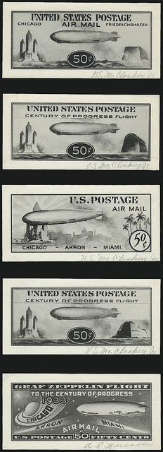 'Baby Zeppelin' stamp designs, US Mail by kitchener.lord, via Flickr