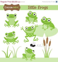 Etsy . Little Frogs . { mad as a box of frogs . the cutest frog shapes for inspiration for cookies . the Great British Bake Off 2015 . Episode2 . showstopper } .