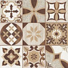 Aposta de diversas marcas, a impressão HD permite reproduzir em placas cerâmicas a aparência de vários materiais. É possível dar asas à imaginação, como fez a Incefra ao criar este revestimento, que lembra mosaicos de madeira, mas também um patchwork de ladrilhos hidráulicos. O HD-50120 (50 x 50 cm) é indicado para pisos e paredes internos e externos. Na C&C, o m² vale R$ 20,50.