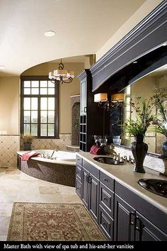 LOVE the idea of the framing and recessed lighting over the vanity.