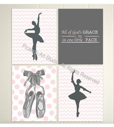 @Ashley Butler do you like these? They come as a set- Baby girl nursery pink grey nursery chevron by PicabooArtStudio,