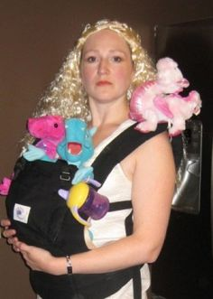 """My 2012 costume: What if Daenerys Targaryen was a Lincoln Park khaleesi? She'd be a babywearing mother of dragons, of course! (No more wondering """"Where are my dragons?!"""" with the Ergo baby-carrier.) Hilarious!"""